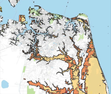 Mean Sea Level Rise in Norfolk by 2100