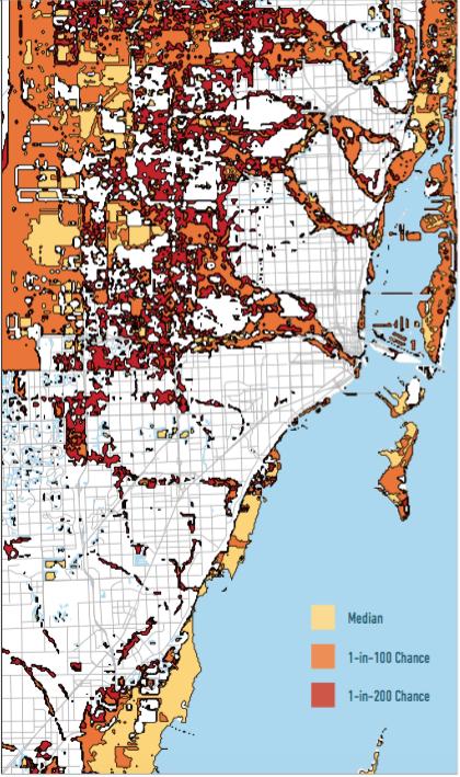 Mean Sea Level Rise in Miami by 2100