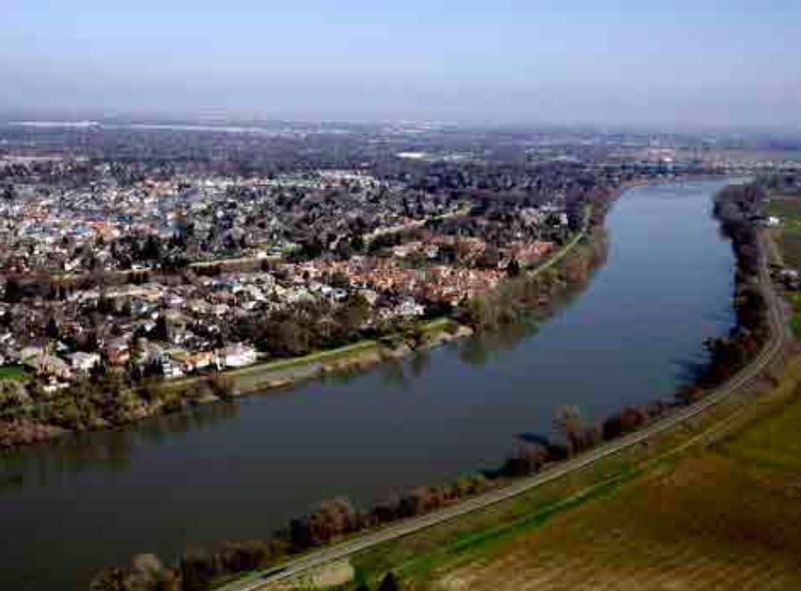 The Sacramento River in Sacramento, California